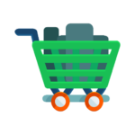 Sell laptop and electronics shopping cart.