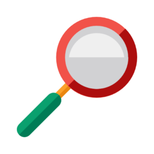 Image of a red magnifying glass with a green handle. This represents our find your model page to get an instant online quote