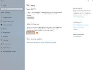 Find Laptop model - Screenshot of Microsoft Windows recovery advanced startup menu.