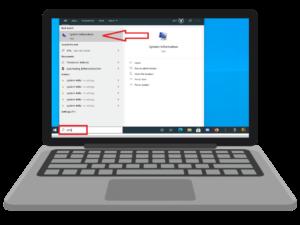 Find laptop model search system information.